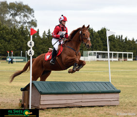 Tamzyn Schibrowski and her partner in crime, Yarraman were decked out in red representing South Australia in the EvA80 at the 2018 Marcus Oldham Interschool National Championships.