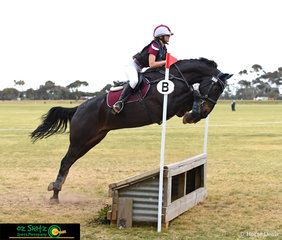 It was knees to nose for Pops Cadillac in the EvA80 with Maddie Mathies in the saddle riding for Queensland at the National Equestrian Centre.
