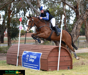Lucy Peterson and Ask No More represent Victoria in the EvA105 at the 2018 Marcus Oldham Interschool National Championship held in their home state.