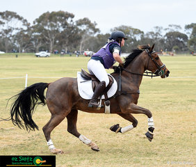 Galloping home for team Tasmania was Georgia McGrath and Maxfields Warlock in the CNC 1 Star.