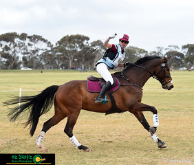 Brooke Dougall enjoys her time with My Locky out on the cross country competing in the CNC 1* representing Queensland at the 2018 Interschool Nationals held in Werribee.