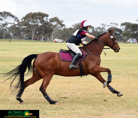 Wasting no time at all in the cross country phase of the CNC One Star class was Queensland rider, Amilia Schooley and Grande Exito.