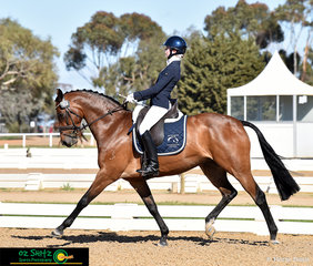 Cherishwood Dream On definitely put his dancing shoes on for Olivia Gillespie in the Elementary on the final day of competition representing Victoria at the 2018 Marcus Oldham Interschool National Championships.