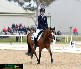 Representing New South Wales in the Primary Novice was Paige Moxey and she rode her nomination, Brampton Halloween at the 2018 Marcus Oldham Interschool Nationals.