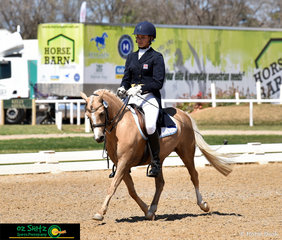 The small but mighty Tumbleweed ML makes an entrance in the Advanced tests on the final day of competition with Meeri Lee in the saddle.
