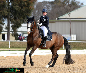 Jessica Hivon and Greenoaks Weltmann made a lasting impression in the Prix St George test representing Victoria in the 2018 Marcus Olham Interschool National Championships.