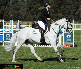 Making their way around the Secondary 1m show jumping course was Rebecca Rogers and Jasper Park Vienna and the pair represented Tasmania at the Interschool National Championships.