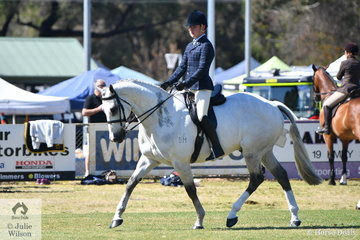 Riley Shannon-Winzer rode, 'Parishon' to claim the Ring 1 Show Hunter Hack Championship.