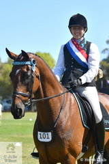 Busy with professional Chiropractic commitments, Sheree Lee took time out to claim the HRCAV Champion Rider title for the Seymour Club riding her successful show hack, 'Tonik'.