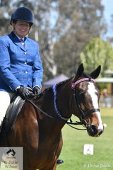 Kylie Slockwitch won the class for Ridden Standardbred Mare with her, 'Magnificent Maggie'.