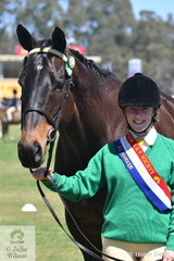 Bernadette Page representing the Seymour Pony Club led her, 'Buck' to be declared Champion Pony Club Handler.