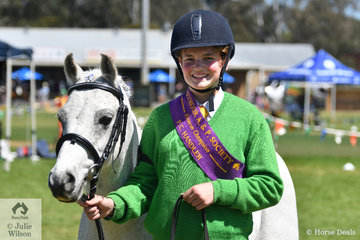 In what proved to be a clean sweep for the Seymour Pony Club, Lucy Duff led, 'Ash' to take out the Pony Club Handler Reserve Championship.