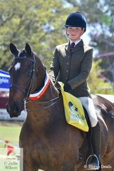 Charlotte Overin from Wandin East rode her, 'Sunny Hill Mighty Murray' to claim the Ring 3 Show Hunter Hack Championship.