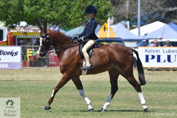 Mia Heinrich rode her very well performed, 'Regalbrook Razzle Dazzle' to claim the Ring 1, 8-10 Years Rider Championship.