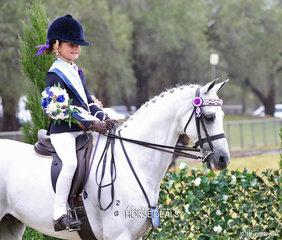 The BERLE FAMILY Champion Rider 6 & under 9 years Madeleine Gaden from Dunedoo.