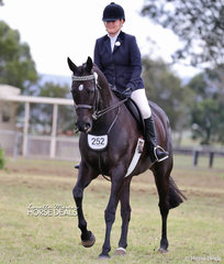 """Mikaela Scott's exhibit """"Ruby Rose"""" placed Top 10 in The FOWLER FAMILY Large Hack of the Year event."""