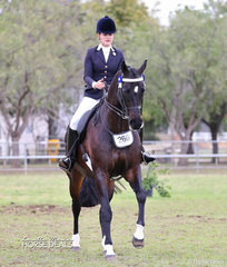 """Top 10 & Smartest on Parade in The FOWLER FAMILY Large Hack of the Year event """"Pandemonium"""" and Sarah Stafford. Sarah also placed Top 10 in her Rider 21 & under 30 years. Earlier in the Show the combination won Champion Amateur Hack."""