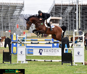 Back on home turf and fresh from the World Equestrian Games held in Tyron, USA, Billy Raymont rides Calavino in the Futurity Championship at the NSW State Show Jumping Titles.