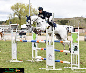 With scope to burn, Amelia Douglass and Upperclass Z ride a double clear round to take home third place in the second round of the Junior Title at the NSW Show Jumping State Championships.