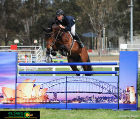 Doesn't get more iconic than this with current NSW Country Champion Tom McDermott and Yalambis Confidant clear the Sydney Harbour Bridge and Opera House Jump in the Futurity Jump Off on Friday afternoon.