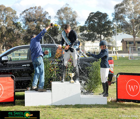 Celebrations were had for Tom McDermott who took out the win of the NSW Senior Title Championship Series with his trustworthy mare, Elegance De La Charmille.