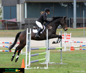 Robyn Parker and Streetwise jumped each fence with lots of air to spare to take out the win in the Open 90cm in the Barastoc Arena on the third day of competition.