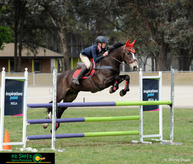The 1m class in the Barastoc Arena proved to be tough competition, but with a clear round and a fast time, Caleb Bertram and Ceejay Park Private Buddy were very happy with their placing in the large class.