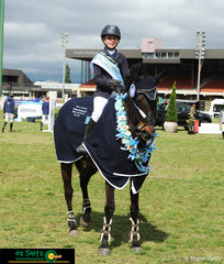 It was great success for young rider, Charlee Dobbin riding Aaberdeen Adonis taking out the championship in the NSW Children's Title Final.