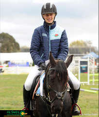 Ashely Cutler and Fairlight R jumped a clear round to secure the win in the 90cm Super Two Phase at the 2018 NSW State Show Jumping Titles.