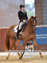 Linus Wk ridden by Isabelle Luxmoore in the FEI Junior Individual CDI-J scored 64.951%