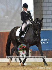 Diamonte Noir ridden by Natasha Moody in the FEI Junior Individual CDI-J placed 3rd with a score of 67.206%
