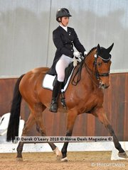 Quamby Farm Cloud street ridden by Elizabeth Brand in the FEI Junior Individual CDI-J finished with a score of 64.510%