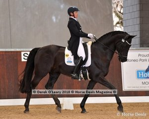 Don Duchovny ridden by Fiona Guthrie in the FEI Intermediate Freestyle with a score of 65.920%