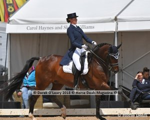 Sancette ridden by Gitte Donvig in the FEI Grand Prix Freestyle CDI-W scored 67.775%