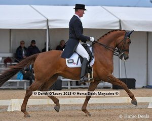 Winner of the FEI Grand Prix CDI-W Freestyle Matthew Dowsley riding AEA Prestige with a winning score of 75.790%