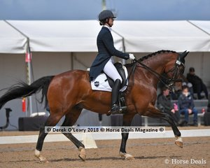 CP Dresden ridden by Alycia Targa in the FEI Grand Prix CDI-W Freestyle placed 3rd with a score of 70.710%