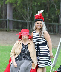 Beautifully colour co-ordinated judges -  Sue Oberg and Michelle Haber.