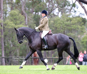 """Winner of the Open Show Hunter Hack 15-16hh """"Beyond Reasonable Doubt"""" and Melissa Gillies."""