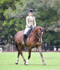 """Class winners in the Show Hunter Hack ring """"Cedar Park Tequila Rose"""" and Ashley Clarke."""