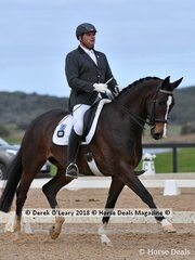 Neversfelde Kipling ridden by Jim Collin in the Medium 4.3 placed 4th with a score 66.487%