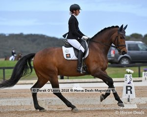 The Royal Huntsman c ridden by Jodie Newall in the Medium 4.2 scored 64.487%