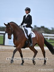 La Vie ridden by Jane Crantock in the Medium 4.2 placed 4th with a score of 68.889%