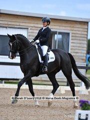 Bourgogne ridden by Monica Bird in the Medium 4.3 scored 65.946% placing 6th
