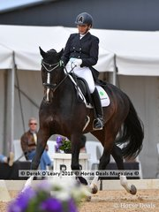Baunehojens Diamond Dancer ridden by Charlotte Pedersen in the FEI Prix St George Stars of the Future placed 3rd with a score of 69.383%