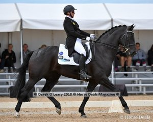 Hiraani ridden by Julia Weir in the FEI Prix St George Stars of the Future scoring 62.118%