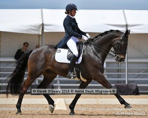 Deejay ridden by Clare Porz in the FEI Prix St George Stars of the Future scoring 63.912%