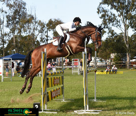 Kirstie Ansell and Tulara Cassiko take the win in the open 1.20m Jump Off round on the first day of the Cabarita Beach Spring Show Jumping Classic.