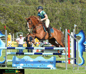 Min Min Calypso the 5 year old Warmblood x Thoroughbred competed in the 1.05m classes over the weekend with his ride, Elizabeth Boneham.