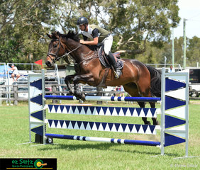 With multiple rides, Jamie Raymont was keeping busy over the two days at the Cabarita Beach Show Jumping Spring Classic hosted by the Tweed and District Show Jumping Club.