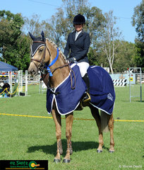 Winner of the best presented at the Cabarita Beach Spring Show Jumping Classic was  Rebecca Bates and she rode WPH Isabella.